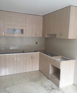 tủ bếp vân gỗ