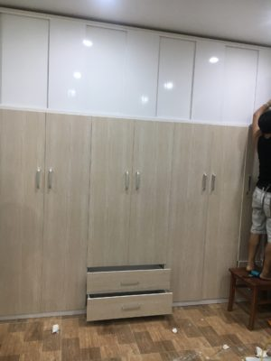 tủ cao 2m9 7 buồng vân gỗ sồi