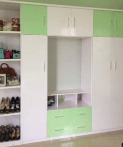 Tủ quần áo nhựa đài loan Kèm kệ Tivi