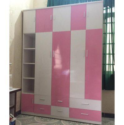 Tủ quần áo nhựa đài loan hồng