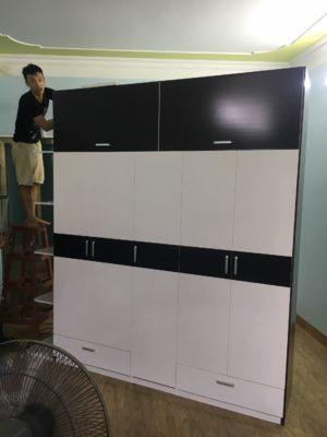 lắp đặt lắp đặt tủ nhựa đài loan 5 buồng