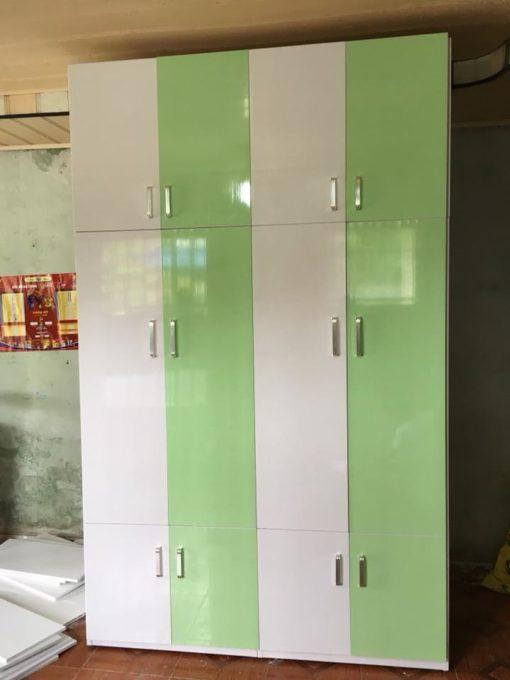 tủ 4 buồng cao 2m4 trắng xnh cốm