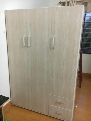 tủ 3 buồng vân gỗ sáng